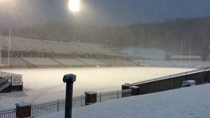 BOONE, N.C. -- Check out these photos of snow covering the football field at Appalachian State University. All photos were posted to Twitter by App State Equipment. The Appalachian State football g...