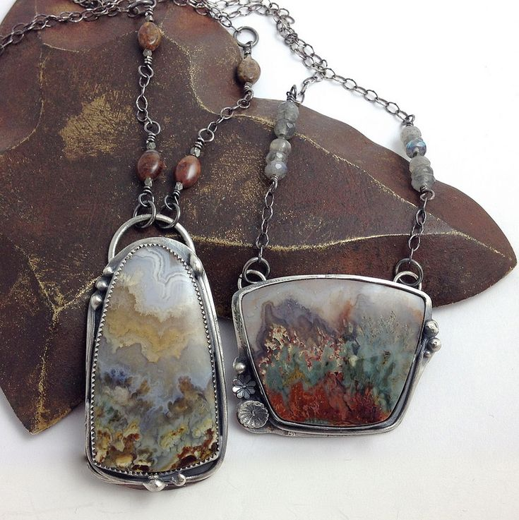 1506 best art jewelry images on pinterest jewel jewelery and prudent man agate sterling vine pendants aloadofball Image collections