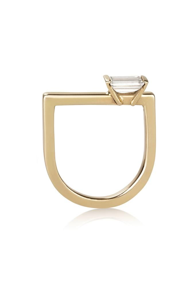 Perla Ring / Geometric diamond Ring