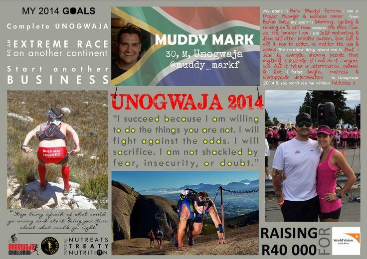 Unogwaja 2014: Mark Ferreira. Muddy Mark joins the Unogwaja Challenge clad in pink!