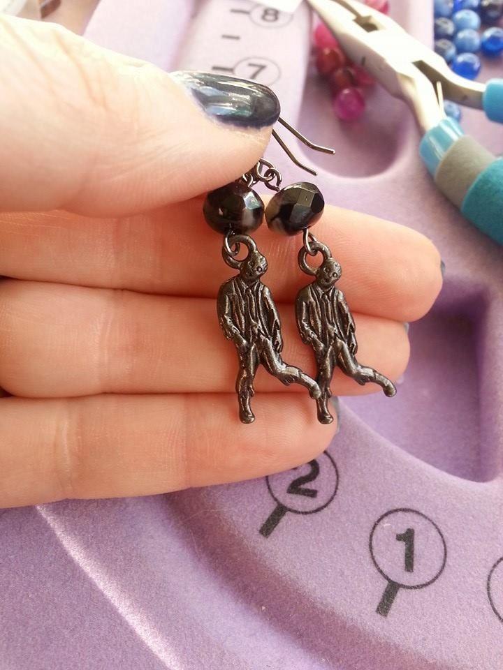 Zombie earrings by AdelleRose, $15