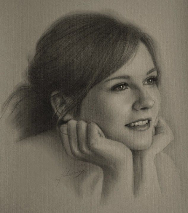 Celebrity Pencil Portraits - Kirsten Dunst