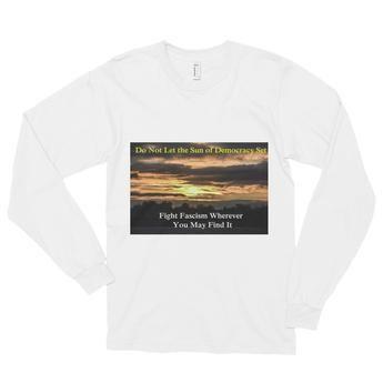 Long sleeve t-shirt (unisex): Fight Fascism