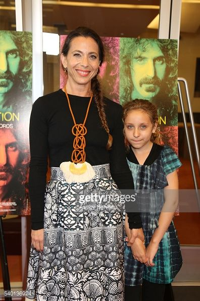 moon zappa | Moon Zappa and daughter at Linwood Dunn Theater on June 13 2016 in Los ...