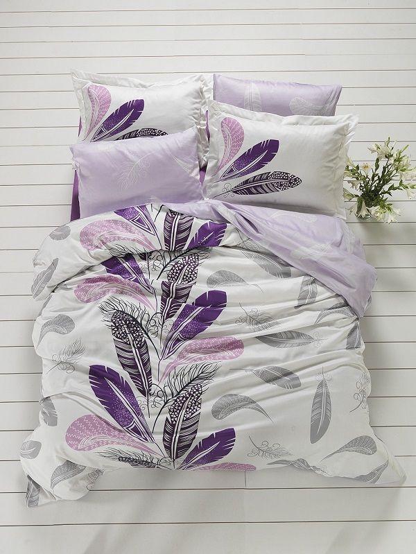 Invaluie intreg dormitorul in prospetime cu ajutorul lenjeriei de pat Satin Plume. #inspiring #comfort #lila #home #SomProduct #dormitor #lenjeriidepat #dormitor