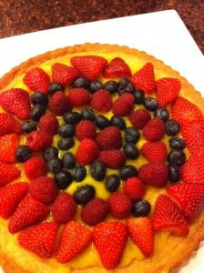 Sable Breton galette with lemon curd and berries