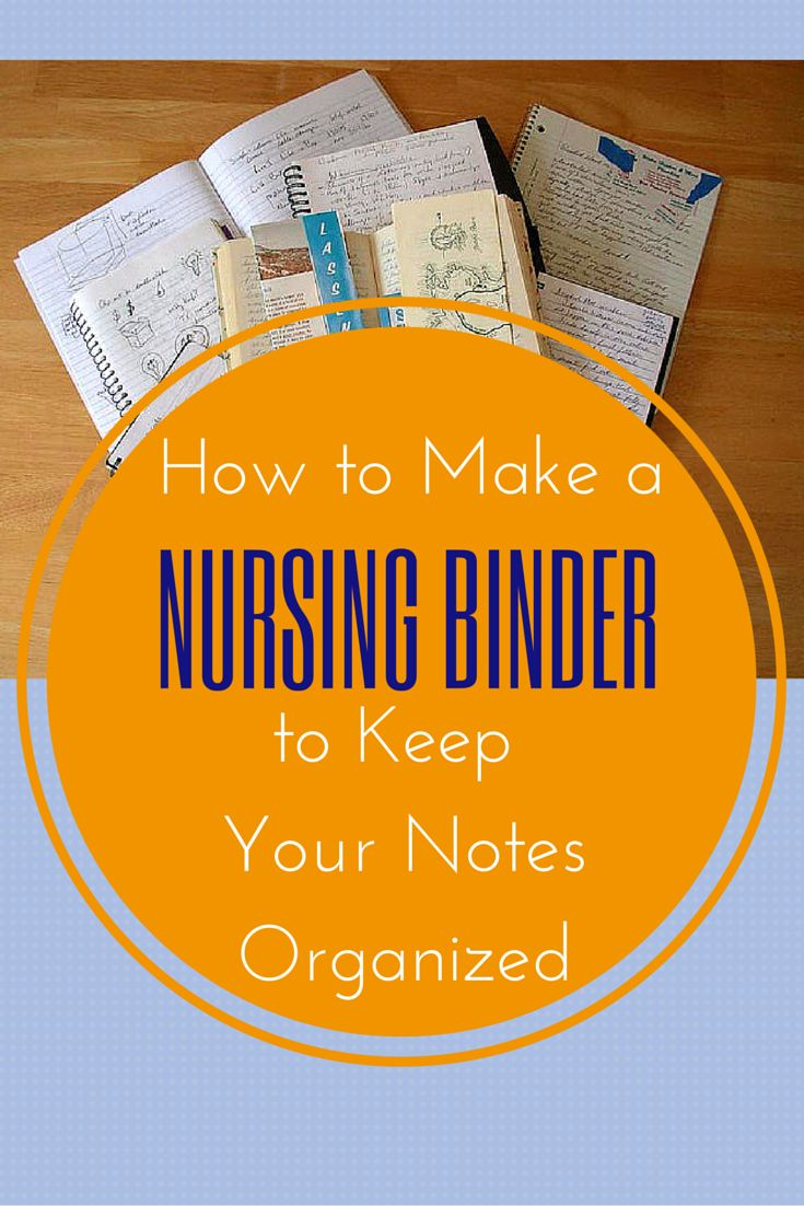 HOW TO MAKE A NURSING BINDER TO KEEP YOUR NOTES ORGANIZED #Nurse #Nursingstudent #healthcare