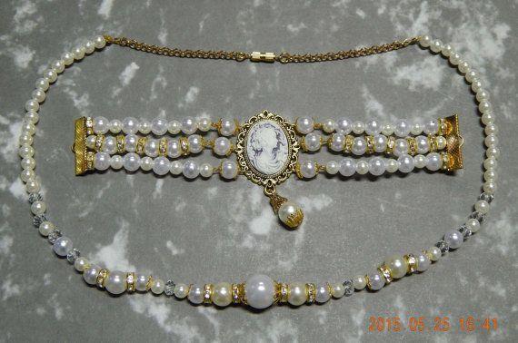 Bracelet and Necklace Set - Historical inspired: Napoleonperiod - 19th century-