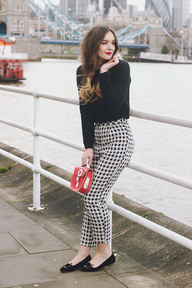 Gingham Topshop Trousers Brit Stitch Outfit