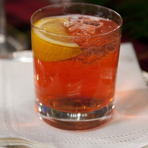 Ligurian Fall Feast, to drink: A trio of citrus brightens while Campari rounds this cocktail out with it's deliciously bitter edge. A splash of vodka brings the whole thing together. Mortoni from @Martha Stewart, found on www.edamam.com.