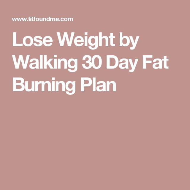 Lose Weight by Walking 30 Day Fat Burning Plan