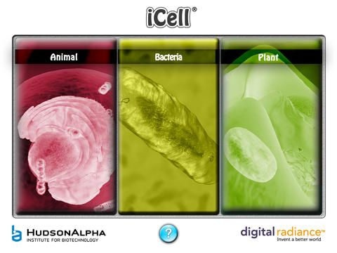 iCell is a FREE app that takes a look at  animal, bacteria, and plant cells.