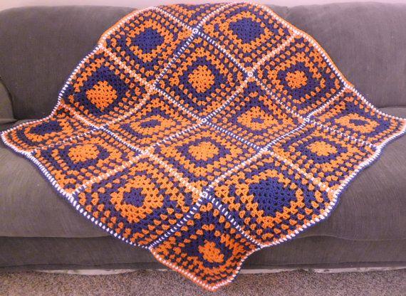 CHICAGO BEARS Colors/blanket/throw/afghan/lapghan by CRAFTYDARLENE, $43.00