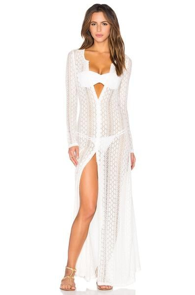 f9812f18db 2019 的 Bohemian Beach Holiday Lace Long Dress Cover Ups 主题 ...