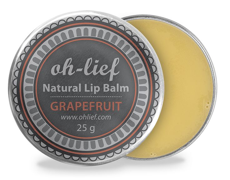 Natural Lip Balm - Grapefruit to naturally restore moisture & shine. Roman Chamomile to revive dry, cracked lips.