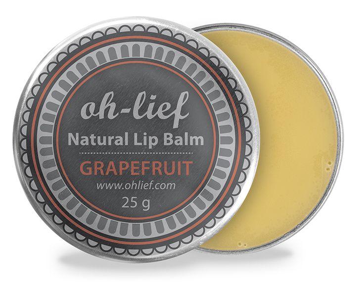 Natural Lip Balm - Grapefruit to naturally restore moisture & shine. Roman Chamomile to revive dry, cracked lips.