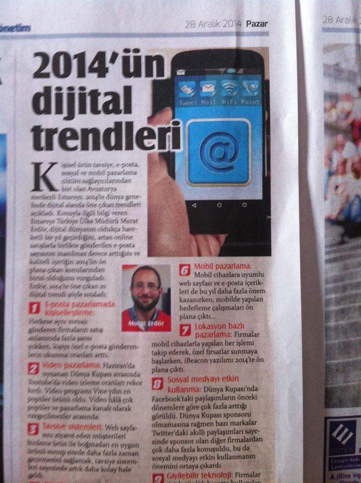 2014 Dijital Trendler_Hürriyet Gazetesi_ 28.12.2014