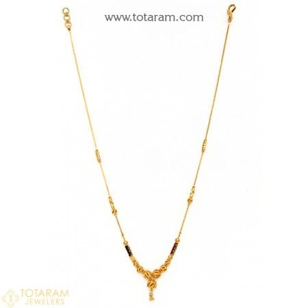 22K Gold Necklace for Women - 235-GN2181 - Buy this Latest Indian Gold Jewelry Design in 12.400 Grams for a low price of  $709.40