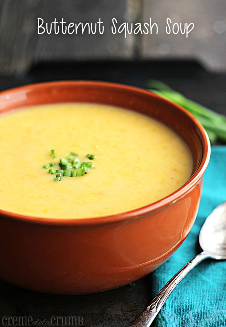 Easy Healthy Butternut Squash Soup | Recipe