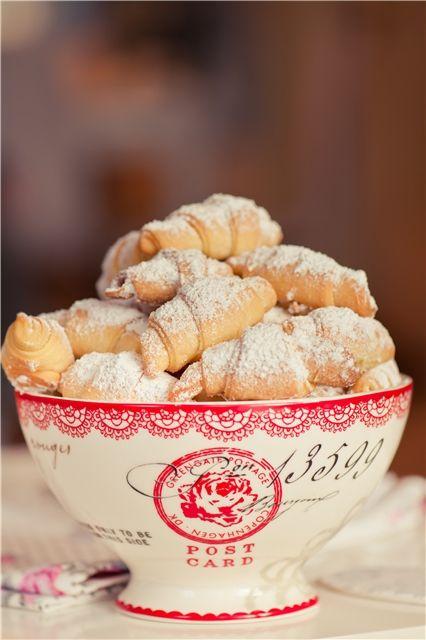 c r o i s s a n t s...yes croissants are French essentials.