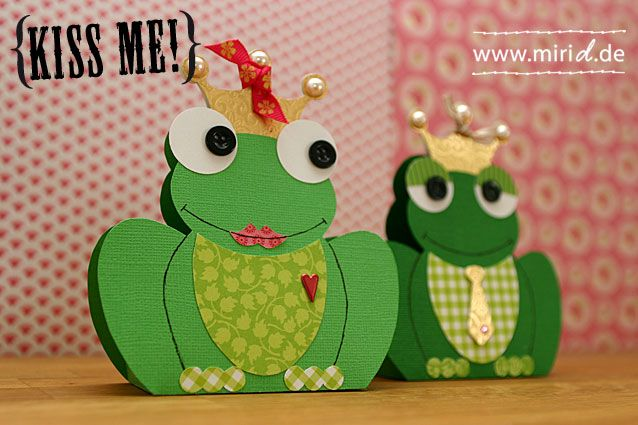 DIY Frog gift box - too cute for words - easy, one page print out - pdf file for the box - Luv! from www.miriD.de