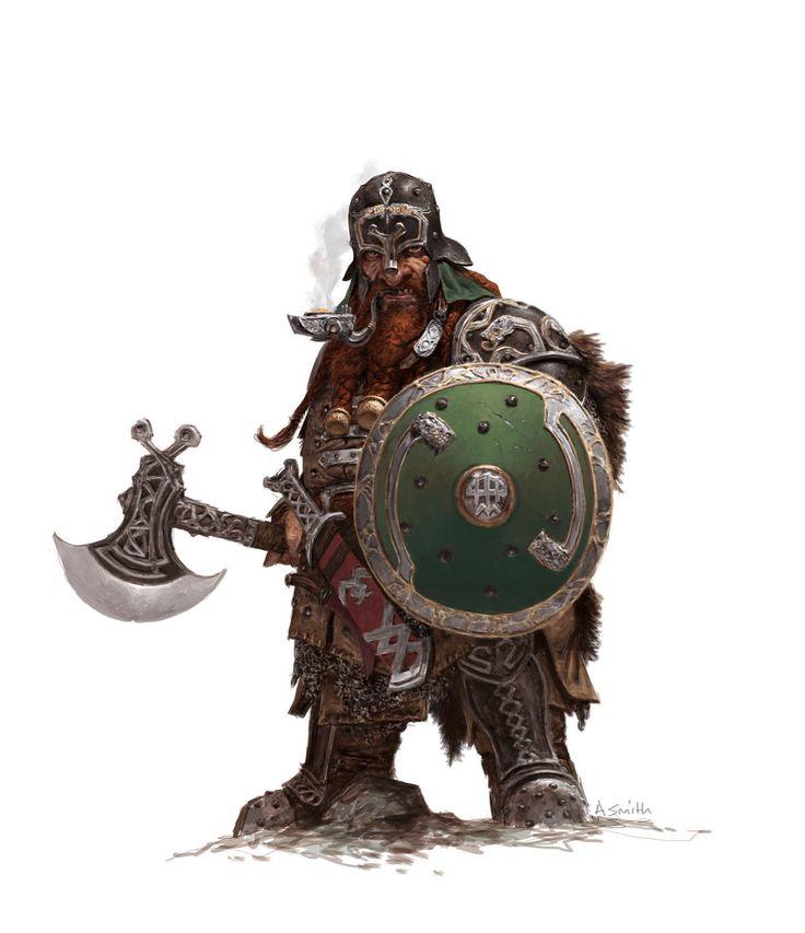 forgeworld/games workshop concept- dwarf warrior, adrian smith on ArtStation at http://www.artstation.com/artwork/forgeworld-games-workshop-concept-dwarf-warrior