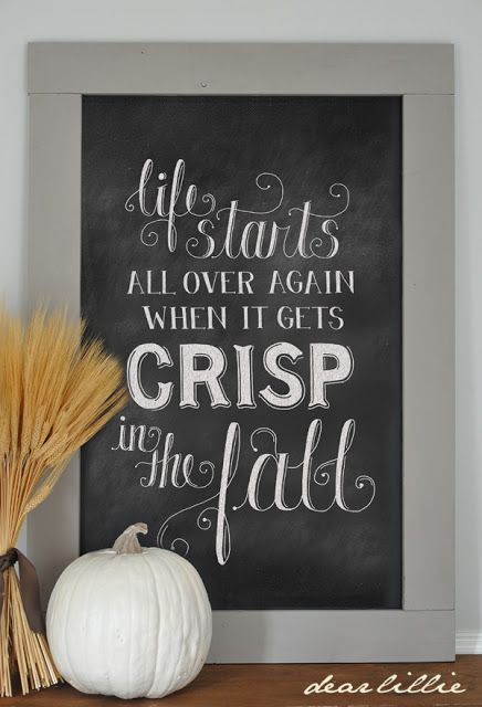 Dear Lillie: Fall is Coming...