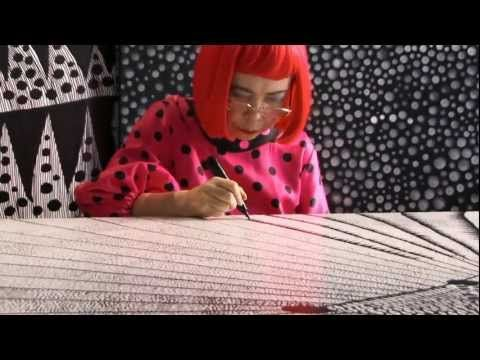 a lovely short clip from a documentary about avant-garde artist Yayoi Kusama, who will have a large retrospective at the Tate Gallery in London this Spring.