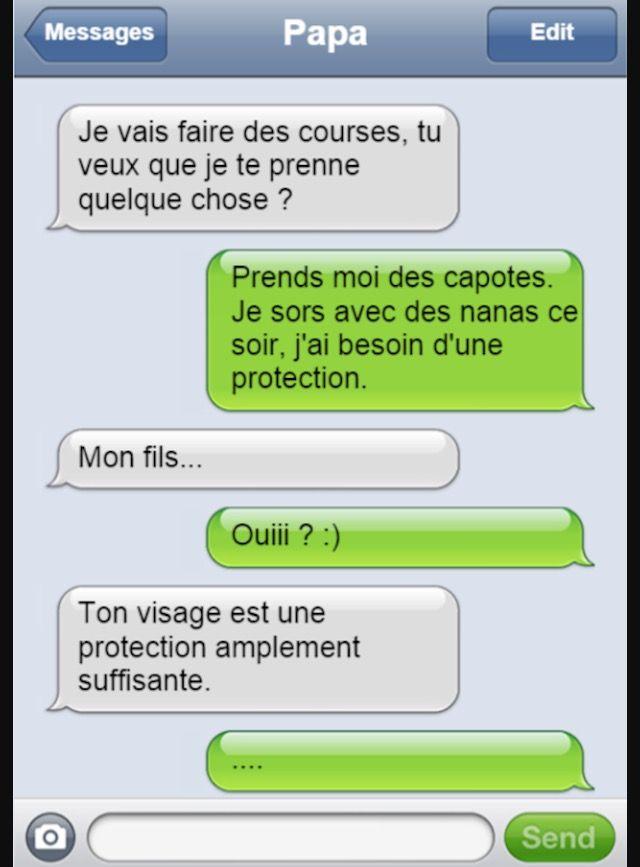 SMS père et fils