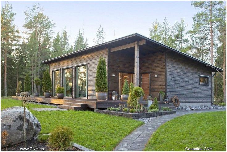 Fínsky domček ako splnenie sna o ideálnom bývaní? Small House Design, Cottage Design, Metal Building Homes, Building A House, Casa Patio, Casas Containers, Weekend House, House Roof, Small House Plans