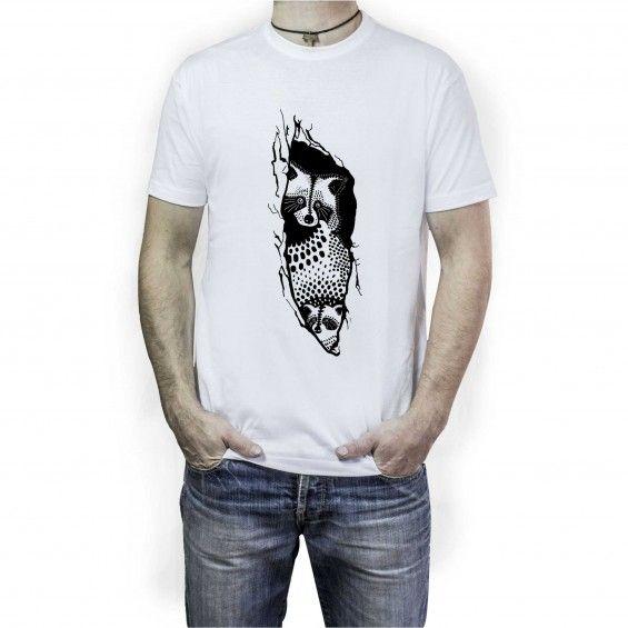 Koszulka Męska Szop - Malinowe Cacko