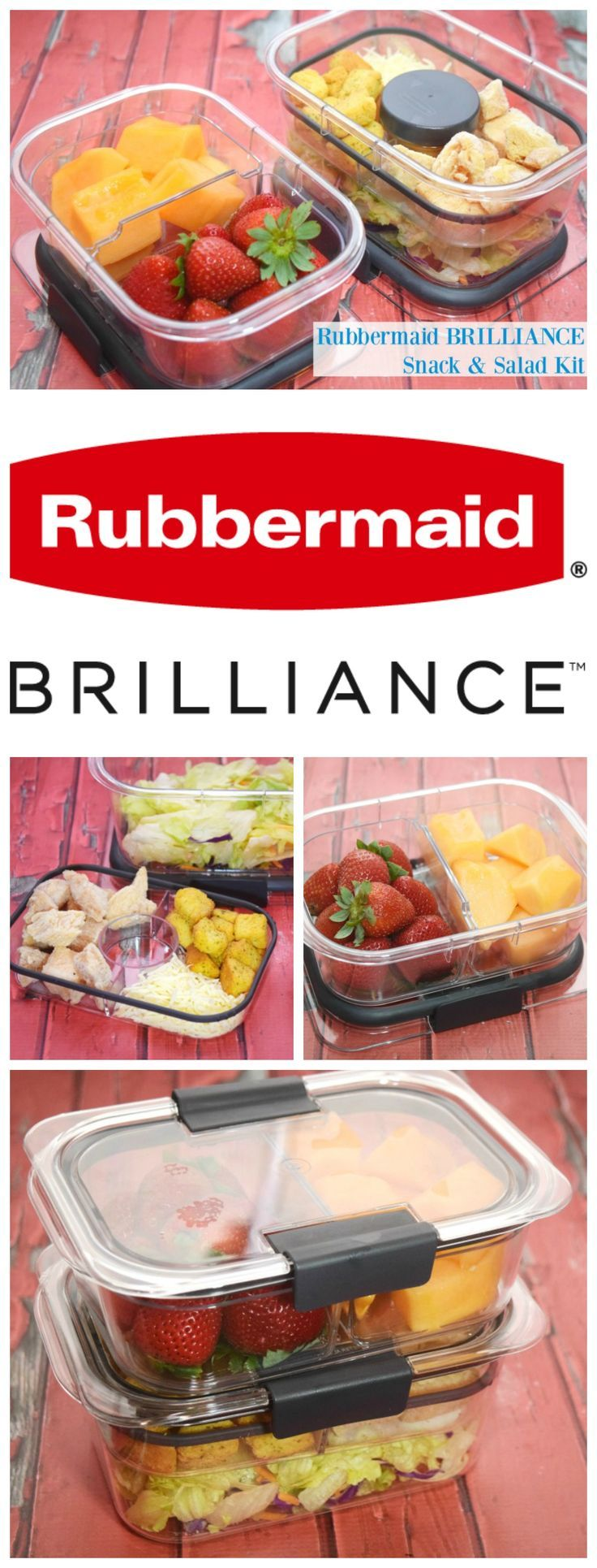 Love salad for lunch, but want to keep the toppings separate? Check out Rubbermaid BRILLIANCE!  You'll love bringing lunch to work with it! #StoredBrilliantly! #ad @SheSpeaksUp