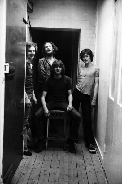 BLIND FAITH Rick Grech, Ginger Baker, Eric Clapton, Steve Winwood) pose for a portrait in July 1969 in Olympic Studios in London.