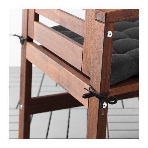 HÅLLÖ Chair pad, outdoor - black - IKEA