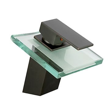 Click Image Above To Purchase: Waterfall Antique Oil Rubbed Bronze Bathroom  Sink Faucet