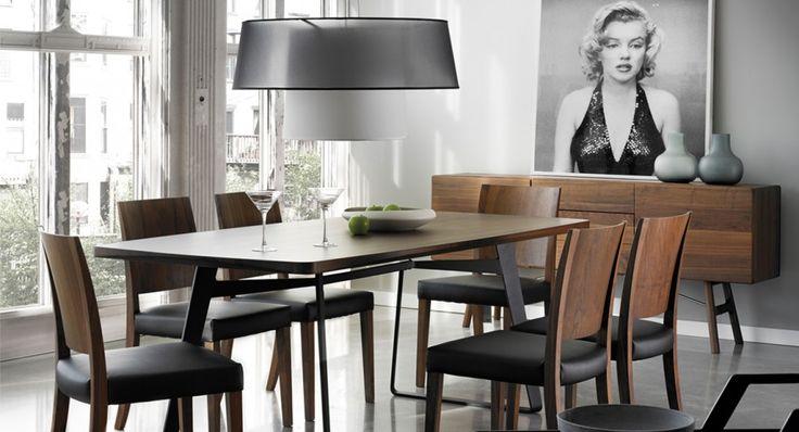 8 best salle a manger dining room images on pinterest With salle À manger contemporaineavec chaise cuir noir salle manger