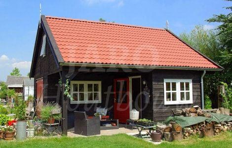 Bijgebouw van hout voor het uitoefenen van uw hobby