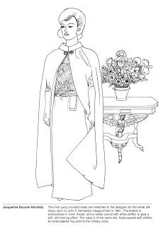 first ladies gowns a smithsonian coloring book illustrations by geraldine lucas