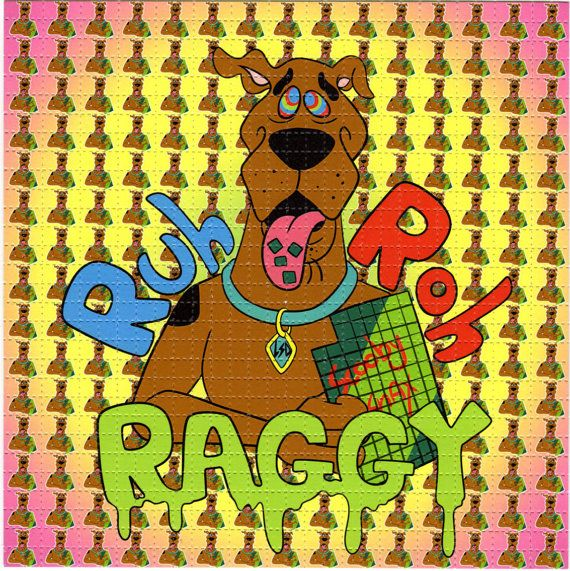 Scooby Snacks, Ruh Roh Raggy BLOTTER ART - perforated acid art paper Kesey Leary Hofmann Owsley Grateful Dead psychedelic lsd sheet tab