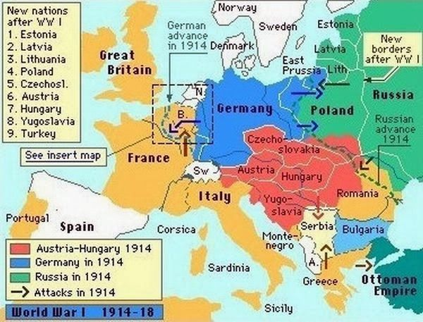 Europe After World War 2 Map