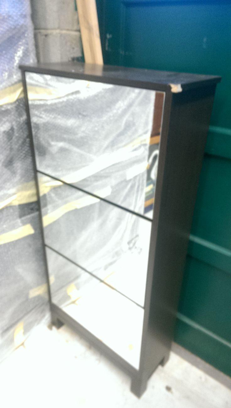 Ikea mirrored pop open shoe rack 40 euros.