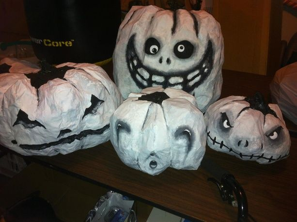 paper mache pumpkin ideas time to take out the ones i made last year
