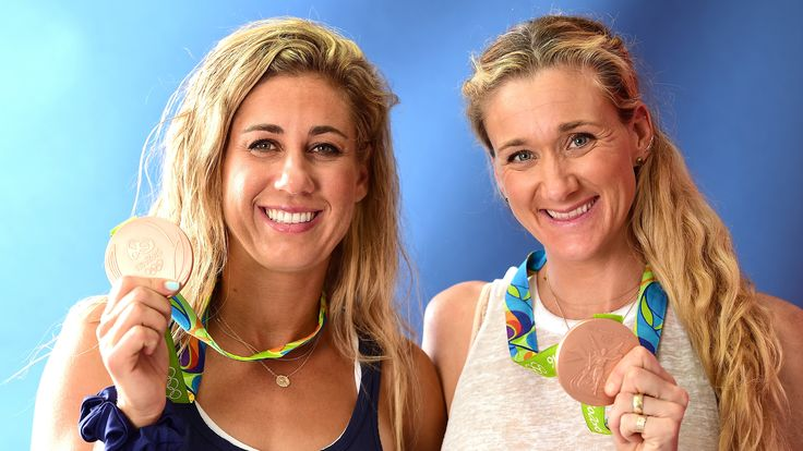 Beach volleyball players share secrets of protecting skin from sun