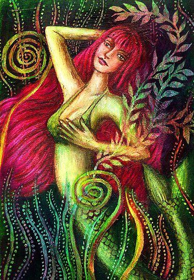 "seafairies:  (via ""Mermaid Eloise"" by Alice Mason | RedBubble)"