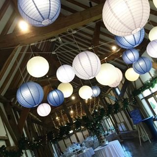 #lanterns over the #dancefloor #fairylights twinkling for yesterday's #festive #wedding @loseley_park @loseleyevents #weddingvenue #weddingideas #weddingdecor