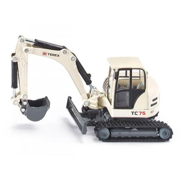 Jual beli TEREX TC75 CRAWLER EXCAVATOR Diecast SIKU di Lapak Rijal - rijal6683. Menjual Diecast - TEREX TC75 CRAWLER EXCAVATOR Diecast The Siku Crawler Excavator is a must have die-cast piece that every construction vehicle enthusiast must have in their collection. With a movable excavator arm, you'll love to pose this vehicle in your construction site play area. Features a nontraditional construction paint job.  With moveable excavator arm. SIKU toy models are accurately detailed, robust...
