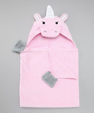 Take a look at this Intimo Pink Unicorn Hooded Towel by Intimo on #zulily today!
