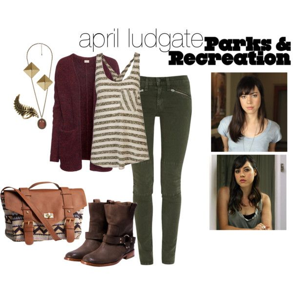 """april ludgate: parks and rec"" by haley-williams on Polyvore"