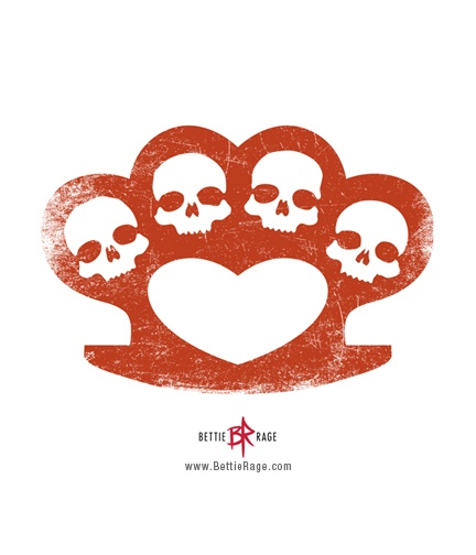 Skulls & Heart Brass Knuckles.  Roller Derby! ;)