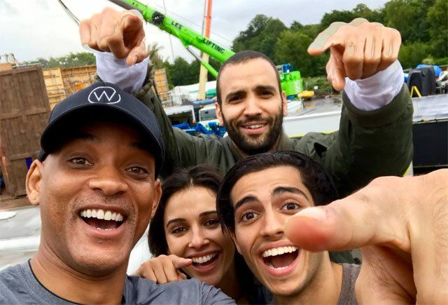 Aladdin Filming Begins as the First Set Photo is Revealed   Aladdin filming begins as the first set photo is revealed  Walt Disney Pictures has announced that casting for Aladdin the live-action adaptation of the studios animated classic is complete and production is currently underway at Longcross Studios outside London. Check out the first photo from theAladdin filming!  The Aladdin cast includes: Two-time Oscar nominee Will Smith (Ali Men in Black) as the Genie who has the power to grant…